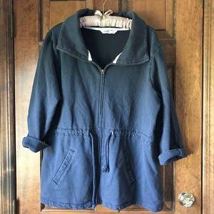 Old Navy Zipper/Drawstring Sweatshirt Navy XL